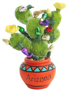Prickly Pear Cactus Christmas Ornament